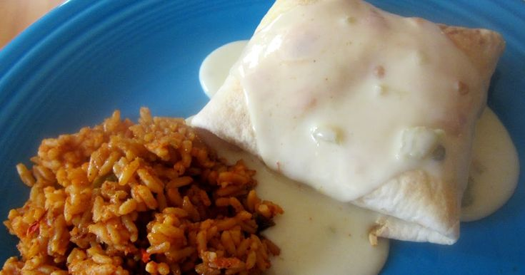 My favorite Mexican restaurant serves chimichangas topped with white cheese sauce, and they are very good. I wanted to try to make the...