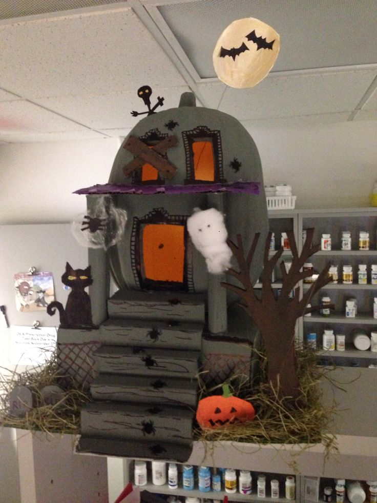 pumpkin mania fun at work Pinterest Pumpkins - decorate cubicle for halloween