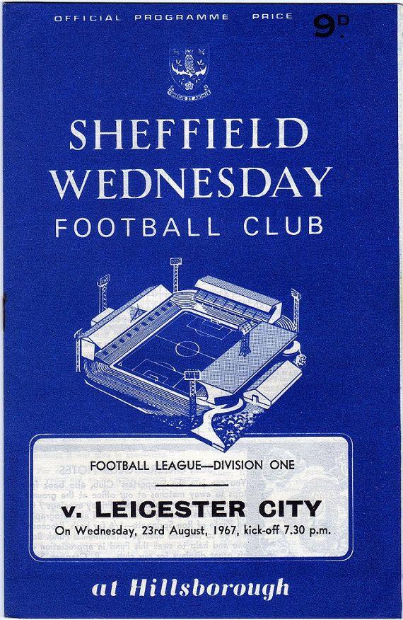 Vintage Football (soccer) Programme - Sheffield Wednesday v Leicester City…