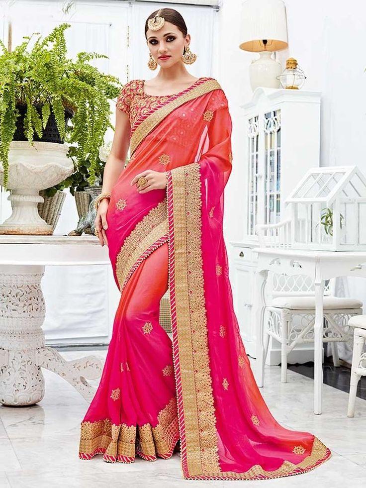 degigner cross sheding silk chiffon sarees with heavy borders handmade work | eBay