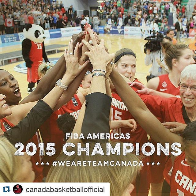 The Women's National Team beat Cuba 82-66 to win #FIBAAmericasWomen2015 and qualify for next summer's Olympics! Kia Nurse was named MVP. #WeAreTeamCanada #RioBound