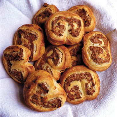 Sausage filled puff pastry pinwheels, for your Bonfire Night party.