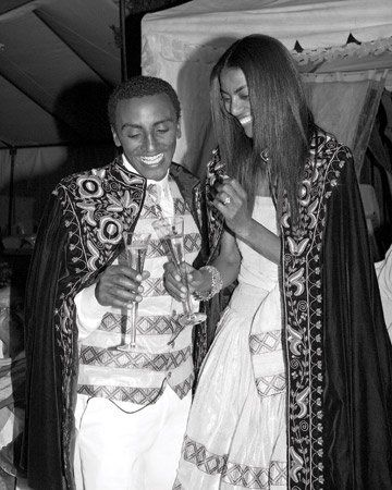 Marcus Samuelsson and wife