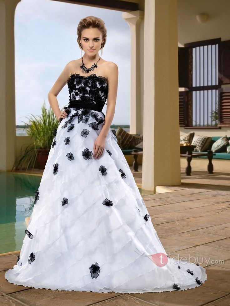 Famoso Vestido de Novia sin Tirantes Floral y Largo al Piso $264.99 #bridalgown #weddingdress #mywedding #piso #novia #de #wedding #al #famoso #floral #bridal #sin #tirantes #vestido #largo