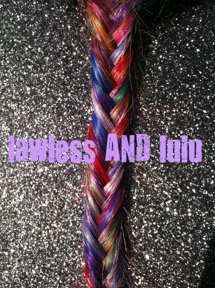 F I S H T A I L  rainbow braid/ BOLD dyed/ human hair extensions/ weft clip in/ free people style braid/ READY to SEND. $20.00, via Etsy.