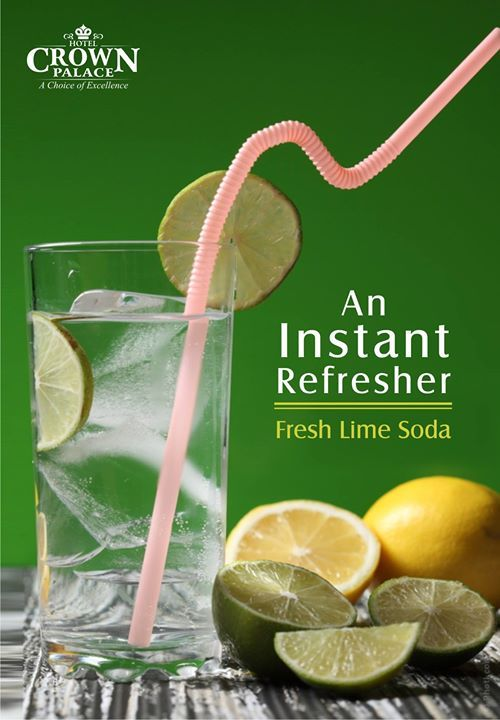 An Instant Refresher Fresh Lime Soda . #cool #summer #drink #indore #goodtime #friend #crownpalace #cafe #bakewell #fresh #freshlime #soda #water #refresher - http://ift.tt/1HQJd81