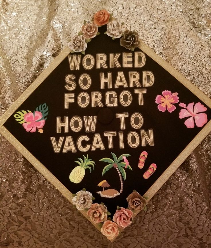 Graduation cap Post Malone quote