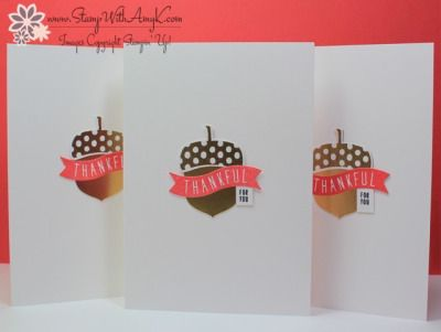 Stampin' Up! Weekly Deals & A Quick Acorny Thank You Note