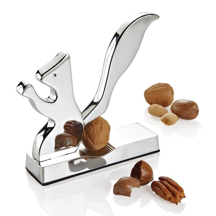 """""""Squirrel"""" Nut Cracker by MORI LUGGAGE & GIFTS   SOURCE: http://www.moriluggage.com/squirrel-nutcracker-chrome"""