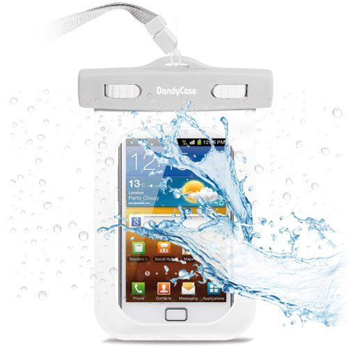 Amazon.com: DandyCase Waterproof Case for Apple iPhone 4, 4S - Also Works with iPod Touch 3, 4, iPhone 3G, 3GS, & Other Smartphones - IPX8 Certified to 100 Feet [Retail Packaging by DandyCase] (White): Cell Phones & Accessories