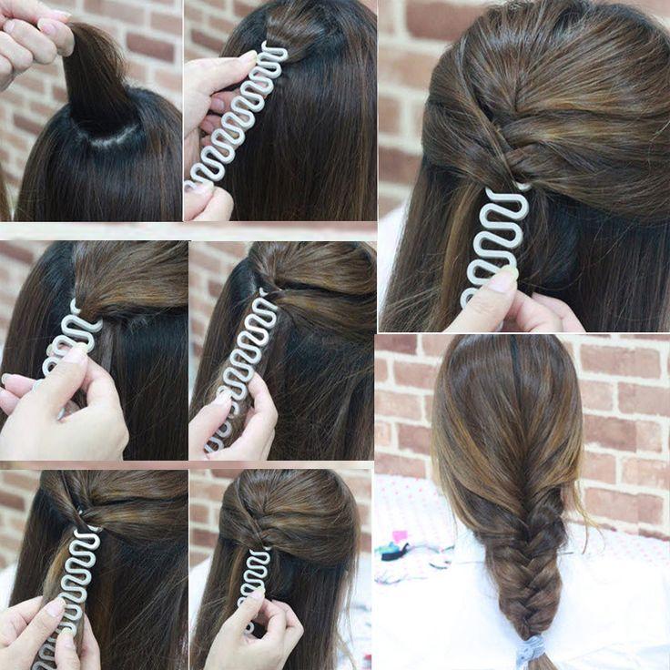 Acessório para trança de cabelo.