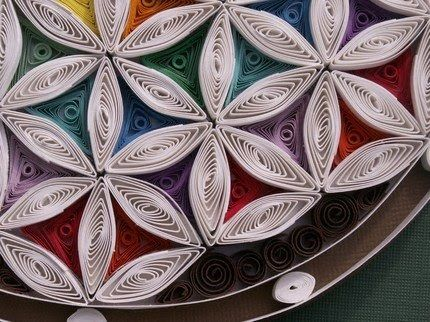 Flower of Life Shadow Box  by CrazyDaisyStudios  Quilling or paper filigree is an art created by the twirling and curling of slim paper stri...
