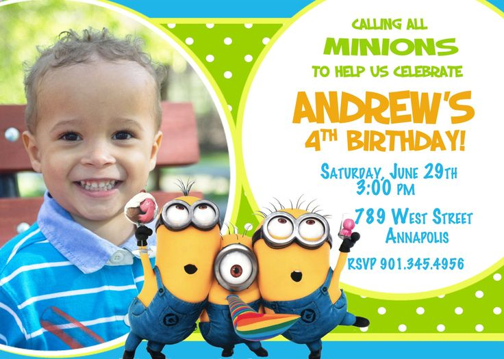 19 best minion birthday bash images on pinterest | birthday bash, Birthday invitations