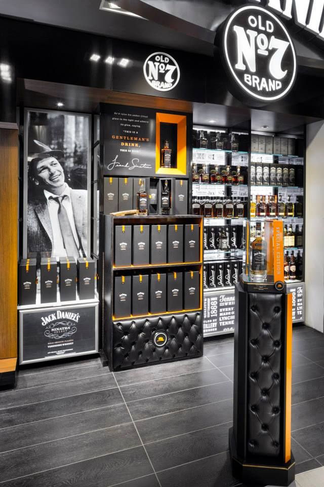 Come Fly With Me - Jack Daniel's duty free store #POS