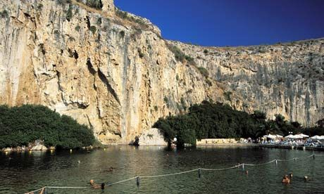 The Therapeuthique Lake in Vouliagmeni, Athens, Greece
