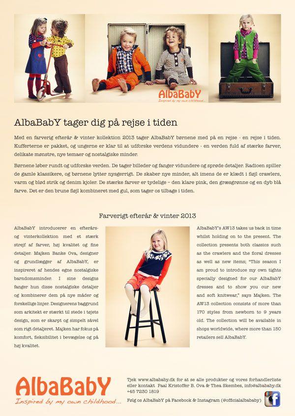 Albababy presse meddelse efterår / vinter 2013 www.tuffkids.dk