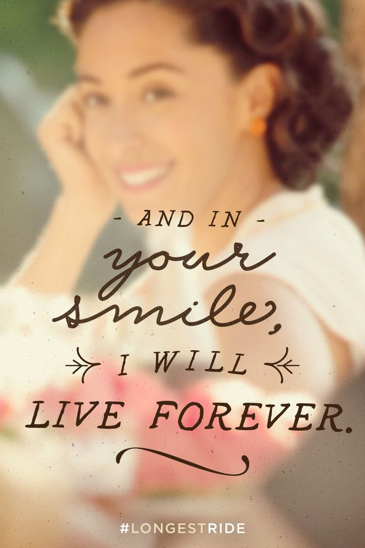 Whose smile do you love? | The Longest Ride