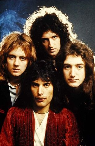 Queen -British rock band formed in London in 1970, consisting of Freddie Mercury, Brian May, John Deacon and Roger Taylor.