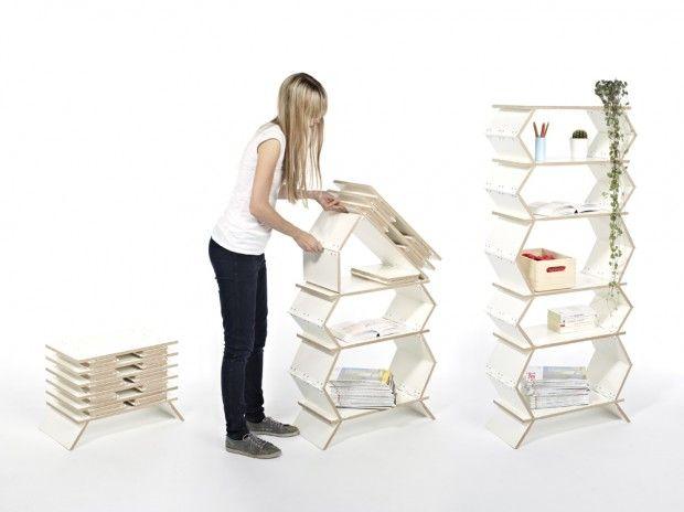 Stockwerk foldable shelf | Hinge + screws