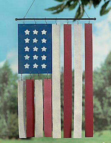American Flag Garden Wind Chimes Yard Art Home Decor Accent New TVI6 928 | eBay