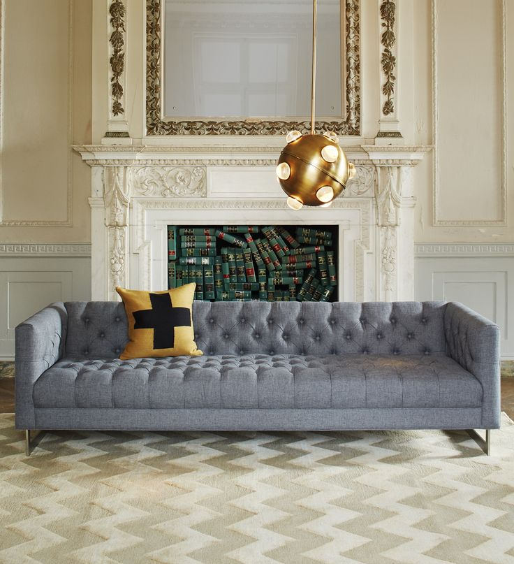 Chaise Sofa Look to Jonathan Adler to luxe up your living room