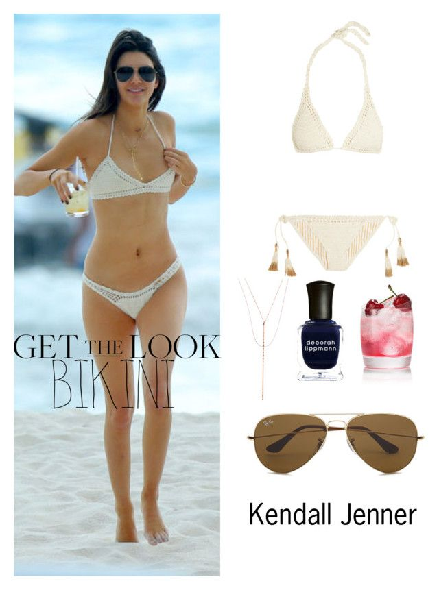 """""""Get The Look: Kendall Jenner Bikini Style"""" by umarijan ❤ liked on Polyvore featuring SHE MADE ME, Lana, Deborah Lippmann, Ray-Ban, GetTheLook and Swimsuits"""