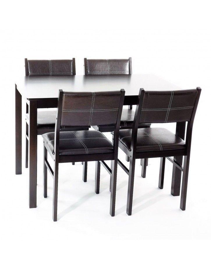 Set masa cu 4 scaune Wenge - Sembazuru Art