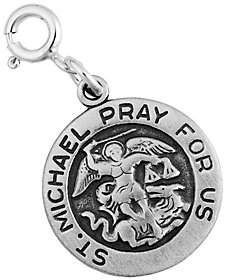 QVC Sterling Silver St. Michael Charm. Angel of God. Angels protect us.