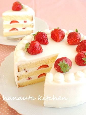 ぜいたく苺の♪ミルキーショートケーキ by flan* [クックパッド] 簡単おいしいみんなのレシピが230万品