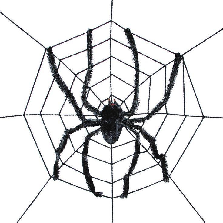 gigantic spider web with spider 8 feet diameter halloween spider decoration