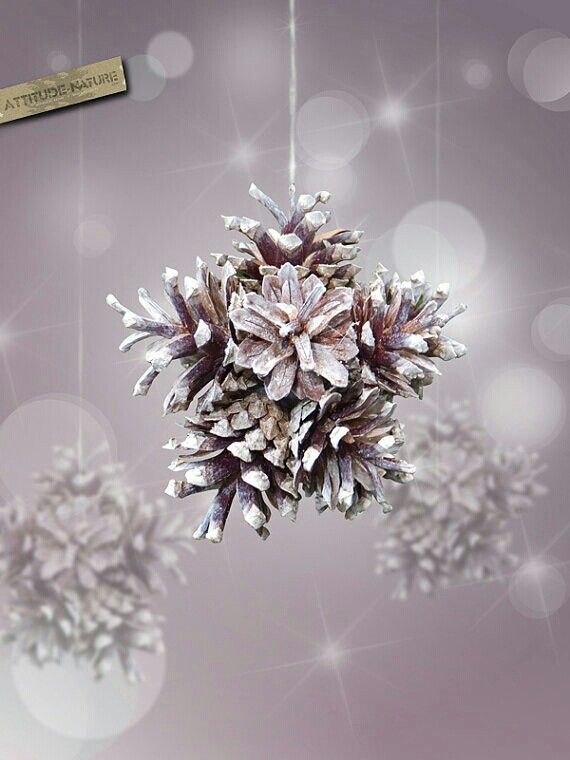 Star Pinecone Ornament