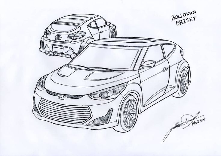 GTA Vehicle Idea Sketch Bollokan Brisky 2013 Hyundai