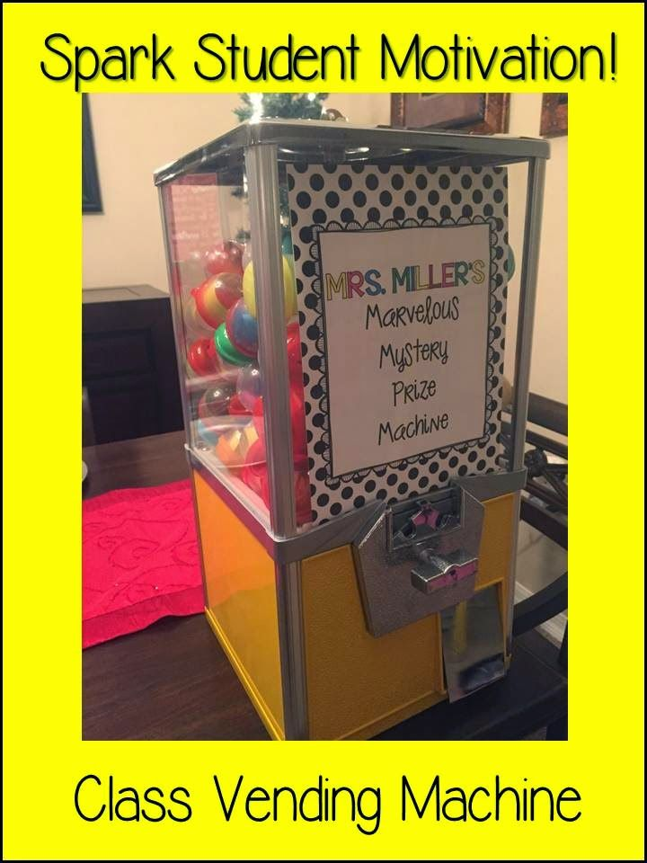 Spark Student Motivation: Class Vending Machine-so many possibilities for this machine!