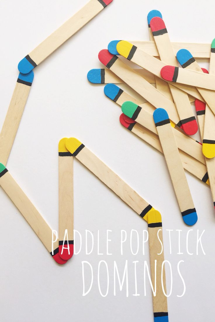 DOMINOS | Make your own dominos using paint & paddle pop sticks…