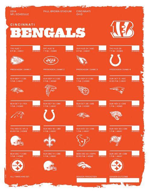 Cincinnati Bengals 2014 NFL Schedule