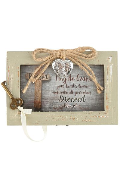 Cottage Garden, Psalm 20:1 May He Grant Music Box, Pale Green, 6 x 4 x 2 1/8 inches