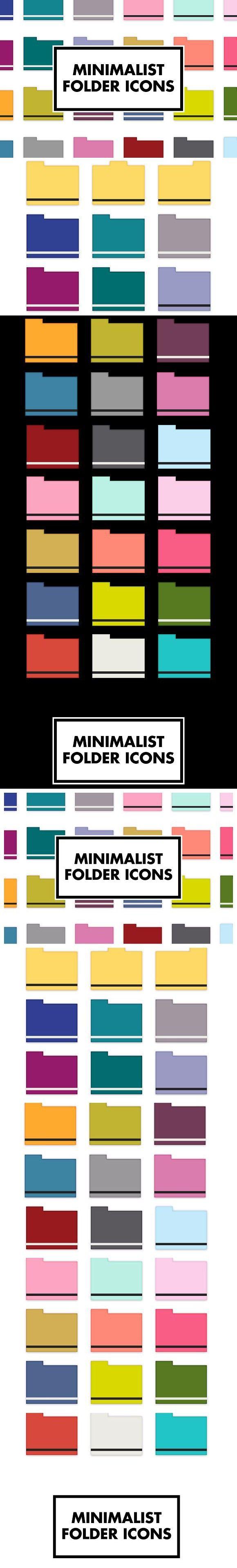 Minimalist Folder Icons Folder icon, Icon, Desktop icons