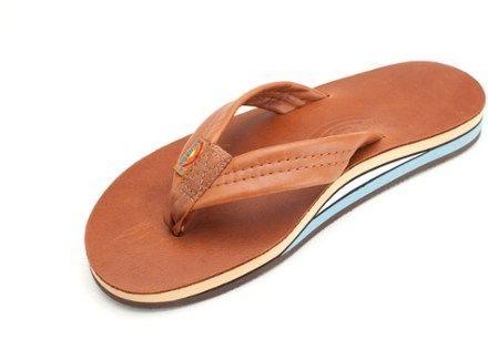 Rainbow Sandals Men's Double Layer Classic Leather Flip-Flops Tttb Xxxl (13.5 - 15)