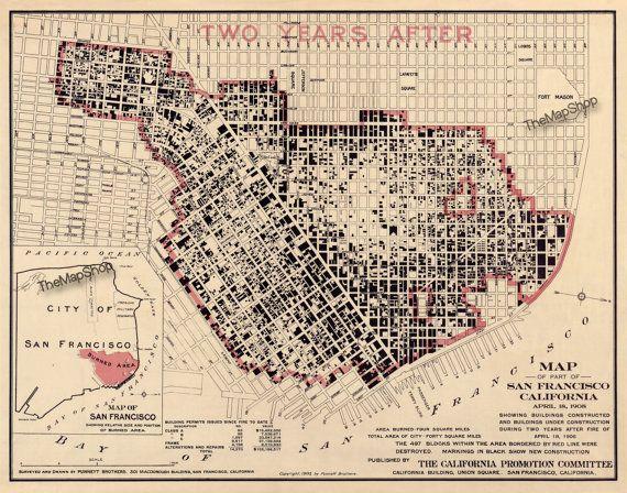 27 best San Francisco Historical Maps images on Pinterest  San