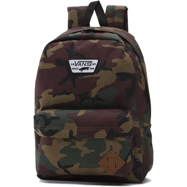 Vans Old Skool Backpack ($35) ❤ liked on Polyvore featuring men's fashion, men's bags, men's backpacks and green