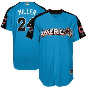 American League Indians Andrew Miller Majestic Blue 2017 MLB All-Star Game Home Run Derby Player Jersey