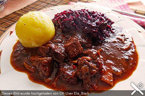 German Recipe! Hirschgulasch, ein schönes Rezept aus der Kategorie Wild & Kaninchen. Bewertungen: 125. Durchschnitt: Ø 4,7.