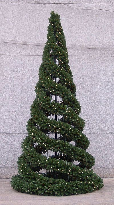 tomato cage christmas trees easy cheap and fun great idea for an outdoor tree - Outdoor Christmas Trees
