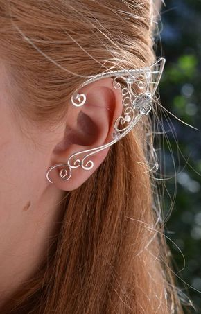 Elf Ears Ear Cuffs - Elven Ear Cuff - Boho Jewelry Bohemian Floral  Freespirit  fc3d259399