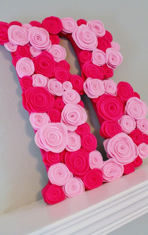 Large Wooden Letter Wreath Wall Hanger or Dessert Table Display by KraftinMommy