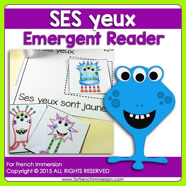 For French Immersion Emergent Reader - SES yeux - en français