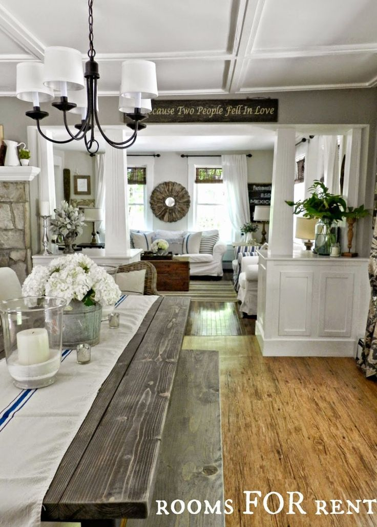 Rustic Farmhouse Or Country Style Dining And Living Room. The Best Paint  Colours From Sherwin