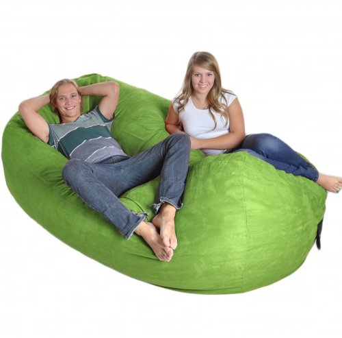 ... Foam And Covered With A Durable, Soft Microsuede, This Bean Bag Will Be  Your New Favorite Lounging Place. This Giant Cushion Seats People  Comfortably.