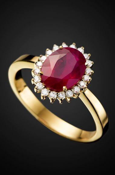 L'Or a porter - Joias e pedras preciosas - Anel Rubi