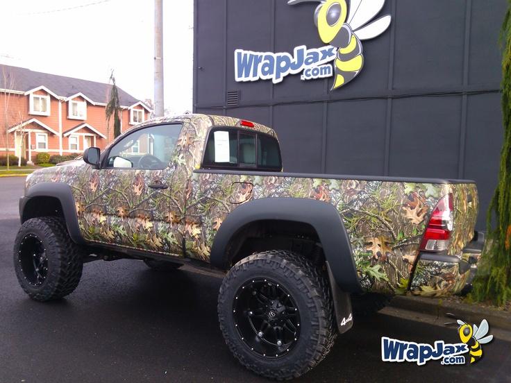 Wrapjax Com Camo Wrap On A Toyota Tacoma Truck Wraps